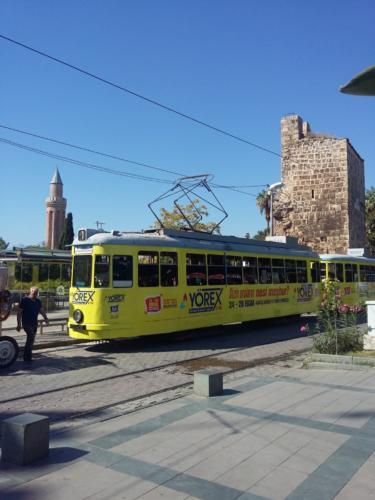 Old tram in Antalia